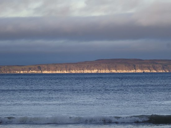 Ballycastle, UK: Looking out towards Rathling Island