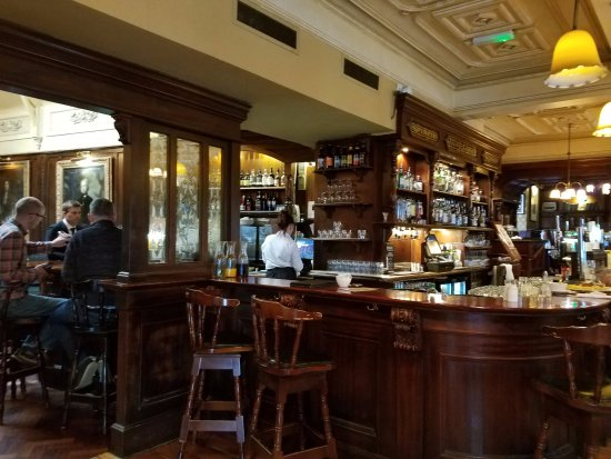 Ennis, Ireland: The famous Poet's bar is part of this lovely hotel. They serve food and great irish coffee!