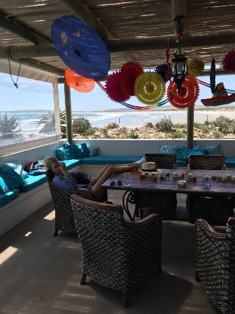 Paternoster, Sør-Afrika: Large patio for family reunions
