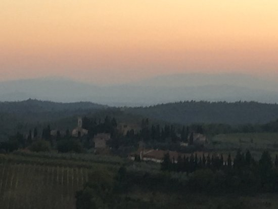 San Donato in Poggio, Itália: Stunning view from room.