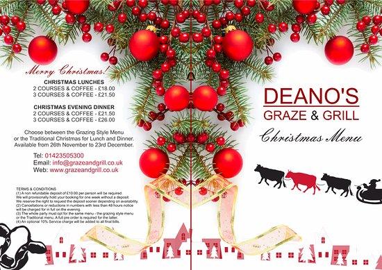 Deano's Graze & Grill: Deano's Christmas Menu 2017