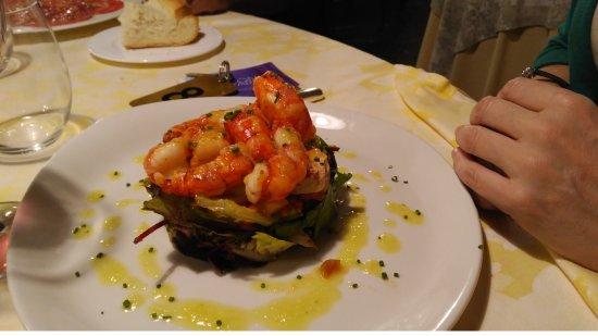 Hotel Restaurante Florida: Ensalada de Carabineros