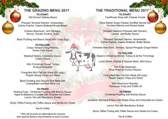 Deano's Graze & Grill: Deano's Christmas Menu 2017 Grazing Menu and Traditional Menu