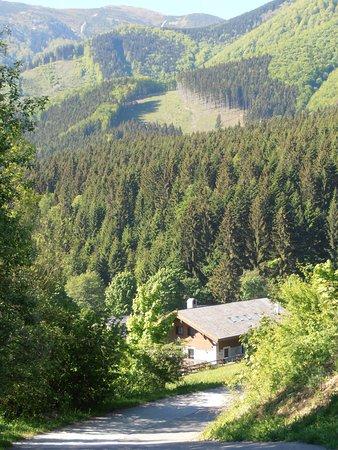 Terchová, Slovensko: výhled z parkoviště