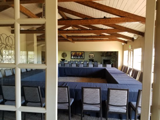 Inn at Pasatiempo: The bi-fold doors will allow both rooms for a large event