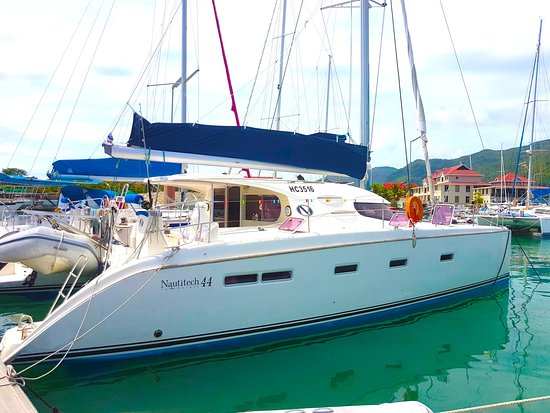 Isla Mahé, Seychelles: Le catamaran au retour