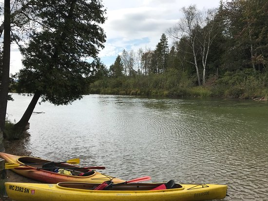Honor, MI: Kayaking down the lower Platte.