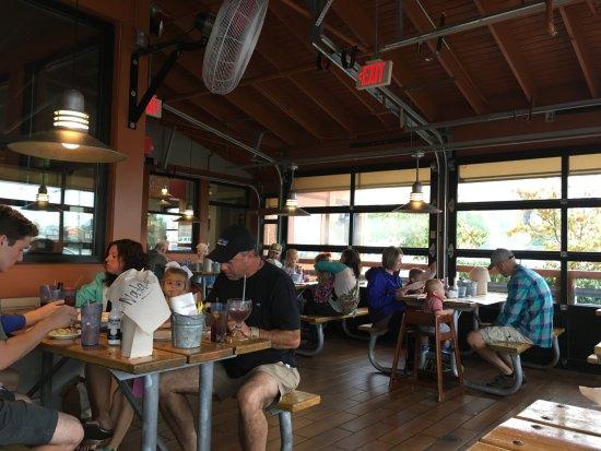 Joe S Crab Shack Indoor Outdoor Dining Area