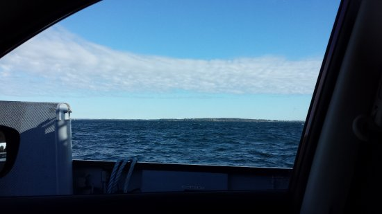 Crossing to Wolfe Island via ferry