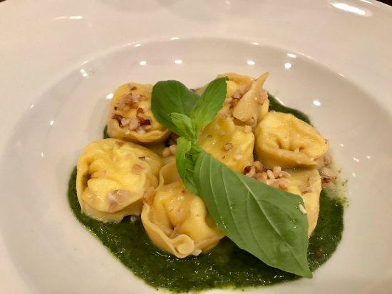 Ravioli Al Pesto at Impronta Cafe