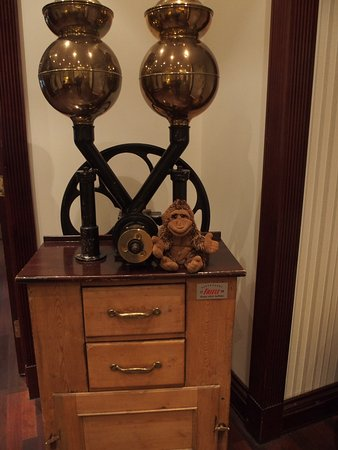 First Hotel Marin: A vintage coffee grinder I think.