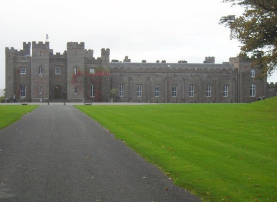 Scone Palace: View of the Palace from the Archway.