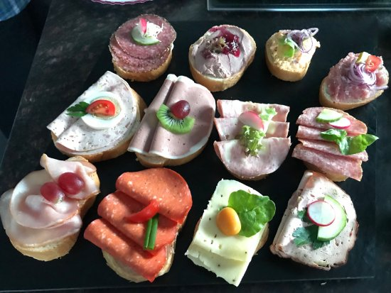 Aldersbach, Tyskland: Catering: Bayrisches Buffet