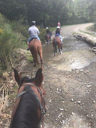 Hanmer Springs, Neuseeland: river crossing