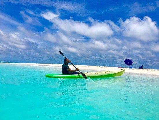 Hulhumale: Kayaking near Sandbank