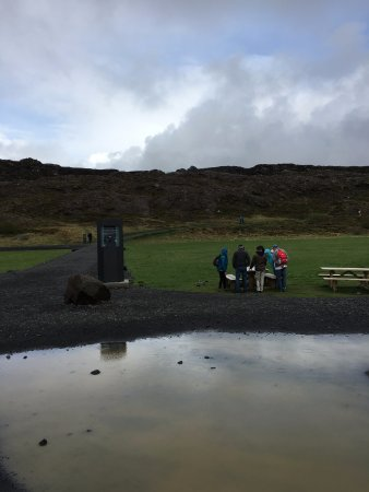 Thingvellir, Iceland: pay at the little machine for parking