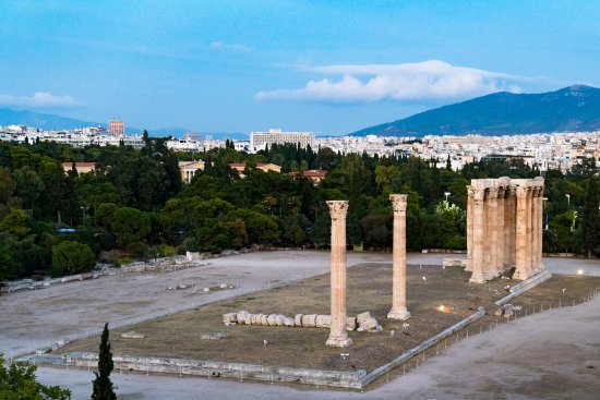 View of the temple of Zeus from my room.