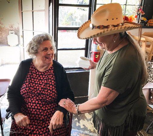 """Rancho de Chimayo Restaurante: My bride with """"mama"""" Martinez!"""