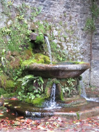 Lismore, Ierland: water source on side of castle