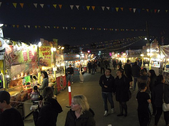 Richmond Night Market at night