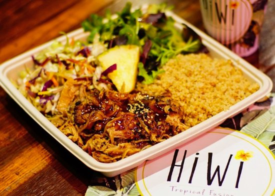 Goleta, CA: Kalua Pork Signature Plate; Pork is house made and season to perfection for 6 hours.