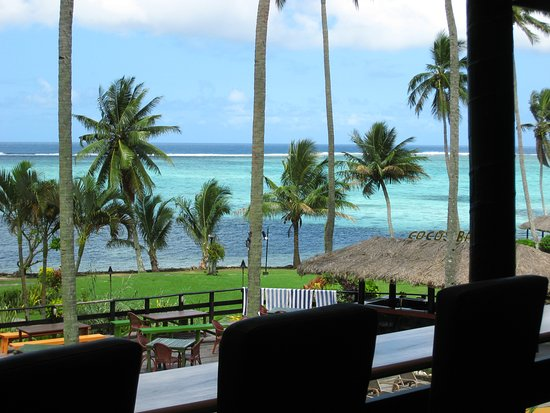 Coral Coast, Fiyi: View from dinning area
