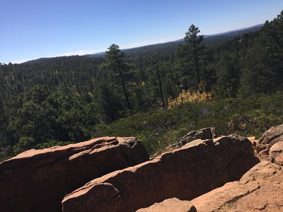 Pinetop-Lakeside, AZ: Easy hike on a paved path offers great views of the rim. Disheartening to see so many signs in d