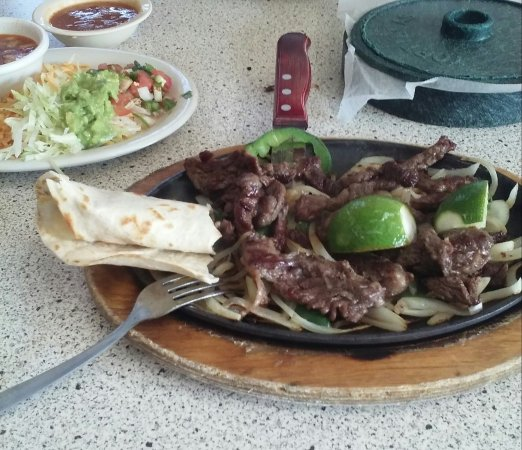 Bryan, TX: Fajitas for One (enough for two people!)