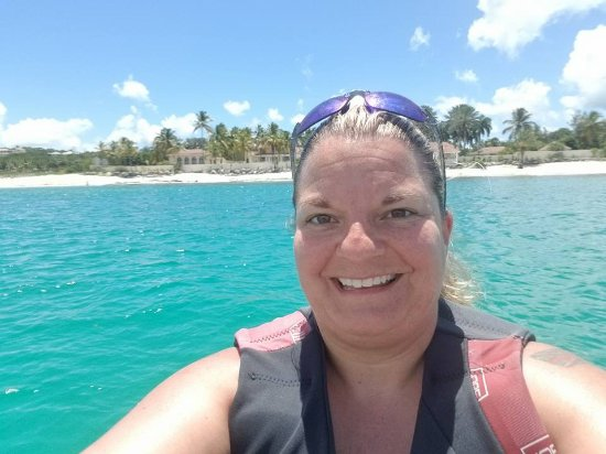 Marigot, St. Martin/St. Maarten: In front of Trump's place