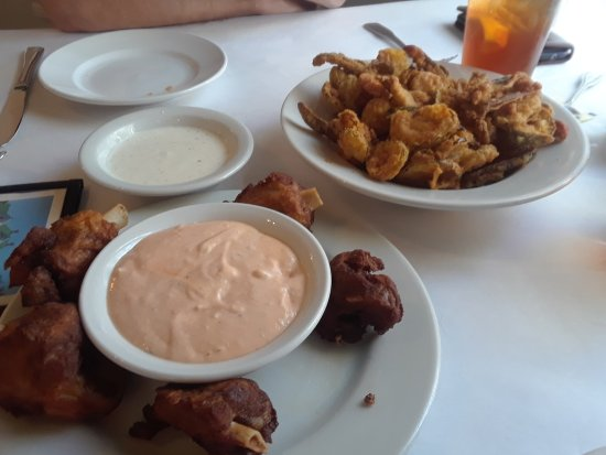 Kingsland, TX: Hawg bites and fried pickles and jalapenos