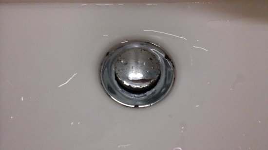Albany, New Zealand: Plughole needs replacing - Water also leaks out.