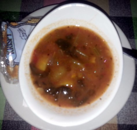 Elk Grove Village, IL: a cup of minestrone soup