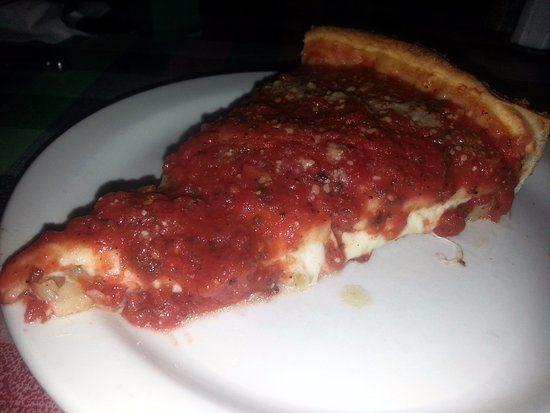 Elk Grove Village, IL: a hot and tasty piece of pizza