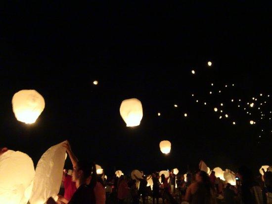 El Dorado State Park: Lanterns in the night sky