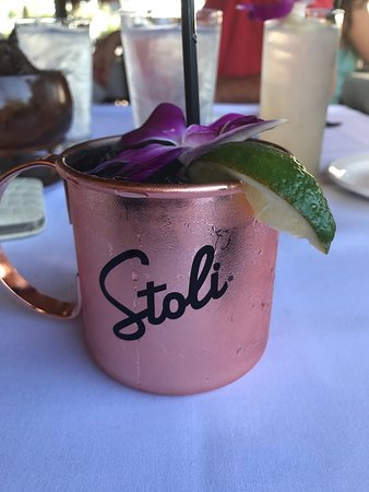 Happy hour stop! Started with the Hawaiian Mule.... and lava fries- GREAT!!! Lobster spinach dip