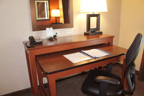 Holiday Inn Express Hotel & Suites Paducah West: Two-Level Work Desk in Every Room, Lower Desk Pulls Out and Moves