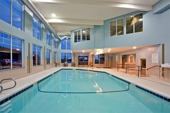 Swimming Pool With Fitness Room Above Picture Of Holiday Inn Express Hotel Suites North