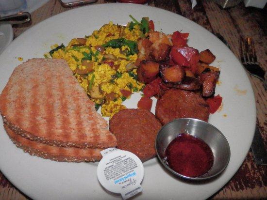 Busboys and Poets: vegan egg scramble