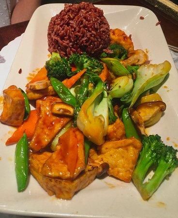 Corona del Mar, CA: vegetable curry/stir