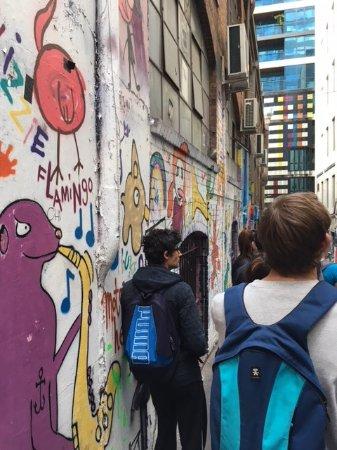Melbourne Street Tours: TAFE Students enjoying the laneway surrounds