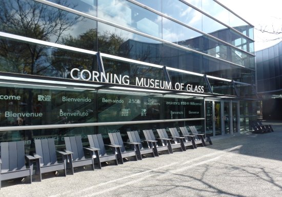 Corning, Nowy Jork: Outside of the museum.