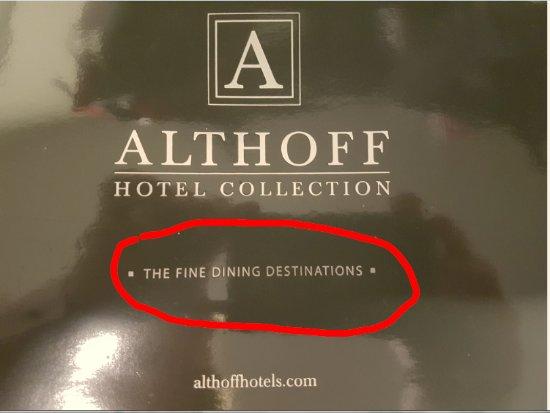 "Althoff Grandhotel Schloss Bensberg: Claim der Hotel-Kette ""Fine Dining Destinations"" Wo?"