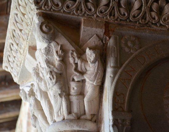 Moissac, France: détail d'un chapiteau du cloître