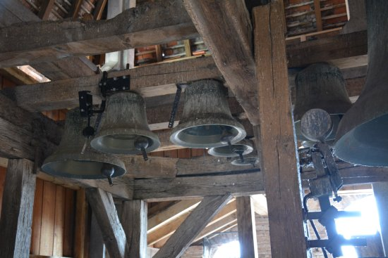 Moissac, France: une vue partielle du carillon de l'abbatiale