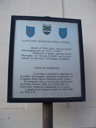Pinerolo, Italie : targa