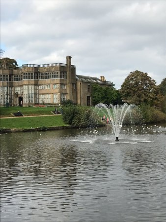 Astley Hall: At side of lake