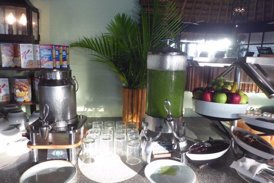 Mahekal Beach Resort: Delicious and healthy green juice