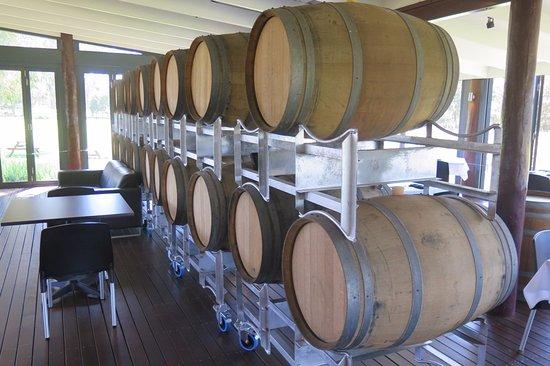 Wilyabrup, Australia: Wine barrels