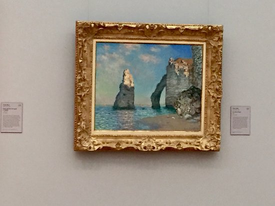 Williamstown, MA: Claude Monet: The Cliffs of Etretat - stay further away from the painting to experience the magi