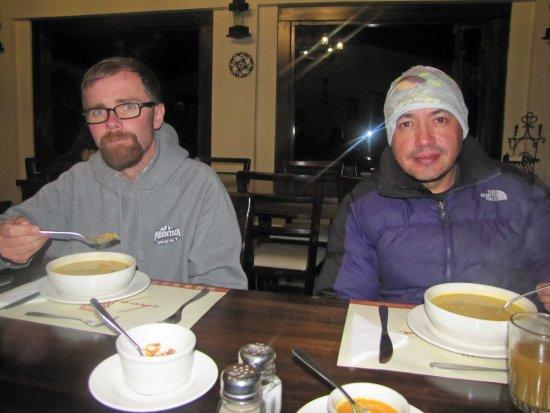 Machachi, Ecuador: huge bowl of lentil soup